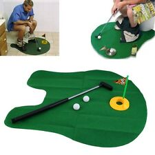 Funny Potty Putter Toilet Time Mini Golf Game Novelty Gag Gift Toy Mat Pa