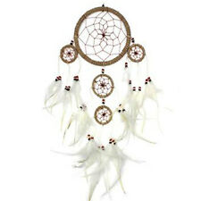 Grand & fil white feather dreamcatcher rustique naturel wall hanging home decor
