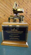 DELTA International Machinery Dealer Sales Award Trophy 1996 Miter Saw  Wood