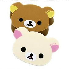 San-X Rilakkuma and Korilakkuma Face Eraser 2pc Set