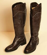 BODEN Ladies Brown Leather Boots Size EU 42 W - UK 8.5