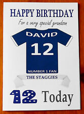 """ROSS COUNTY FAN Unofficial PERSONALISED Football Birthday Card (""""THE STAGGIES"""")"""