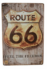 Route 66 Feel Freedom Funny Tin Sign Bar Cafe Garage Wall Decor Retro Metal Gift
