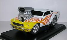 Muscle Machines 1966 Ford Mustang 66 Fastback Pony Car 427 Rat Fink Drag 1:18