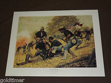 A DAY OF HONOR SPANISH AMERICAN WAR CUBA BUFFALO SOLDIERS SIGNED STIVERS PRINT