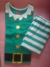 WOMENS CHRISTMAS PAJAMAS SANTA'S ELF SUIT JINGLE BELL MED NEW