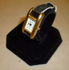 VTG Ladies Parker Quartz Goldtone Watch w/Petite NOS Kreisler Leather Band 22793