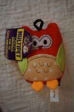 NWT MULTIPET  RED OWL DOG TOY SMALL DOG OR PUPPY TOY WITH SQUEAKER 4""