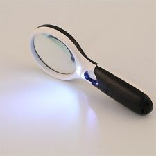 3-LED Light 45X Handheld Magnifier Reading Magnifying Glass Jewelry Loupe FE