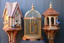 Woodworking plans for making A bird house, bird cage and bird feeder