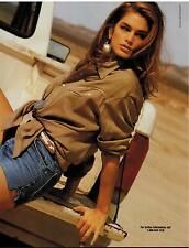 1991  CINDY CRAWFORD Sexy legs for CAPEZIO BAGS   , Magazine PRINT AD 2-pg