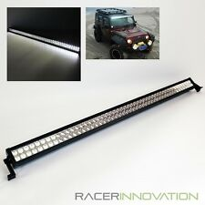 "52"" Inch 300W Off Road Spot+Flood 100 LED Light Bar Jeep/4x4 Roof Rack Work Lamp"