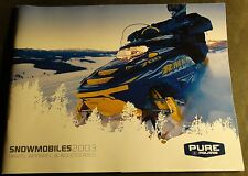 2003 POLARIS SNOWMOBILE CLOTHING & ACCESSORIES SALES BROCHURE 98 PAGES  (860)