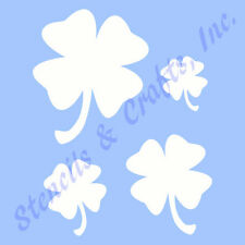 "CLOVER STENCIL IRISH SHAMROCK LEAF LEAVES STENCILS TEMPLATE CRAFT NEW 5"" X 4"""