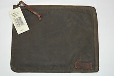POLO RALPH LAUREN BRAND NEW GREEN AND LEATHER TABLET IPAD CASE  MSRP: $ 125.00