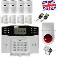 Security Wireless GSM Autodial House Home Burglar Intruder Fire Alarm