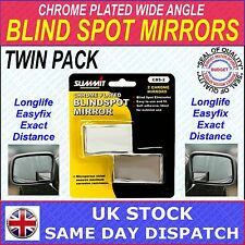 SUMMIT BLIND SPOT RECTANGULAR MIRROR CHROME PLATED FOR CARS & VANS - PACK OF 2