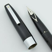 Sheaffer 330 Imperial Fountain Pen - Black, Medium V-Inlay Nib (New Old Stock)