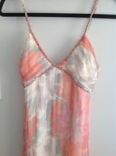 Forever New coral floral maxi dress size 8