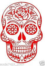 Sugar Skull Red Vinyl Graphic Decal Car Window Sticker Diesel Car Funny