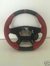 FLAT BOTTOM FOCUS ST RETRIMMED LEATHER STEERING WHEEL BLACK STITCHING 11-15