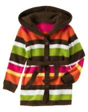NWT girls XS (3-4) gymboree FALL FOR AUTUMN cotton cable SWEATER CARDIGAN HOODED