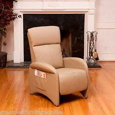 Modern Design Camel Tan Leather Armchair Recliner