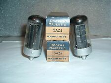TWO VINTAGE 5AZ4 ROGERS MAJESTIC  TUBES    N.O.S.  TESTED