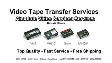 Video Transfer Service 25 Video Tape to DVD Transfer Convert VHS 8MM MiniDV