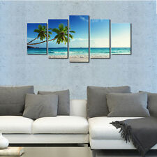 Modern HD Canvas Prints Artwork Landscape Seascape Wall Art Decor 5PCS (Framed)