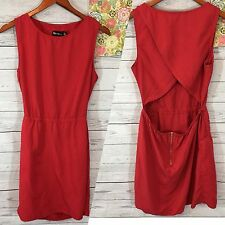 Urban Outfitters By Corpus Red Women's L Red Sundress Open Back Sheat Dress