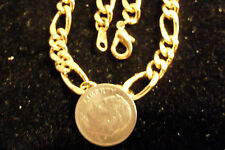 bling gold Plated figaro chain necklace big link pimp thug dookie hip hop dookie
