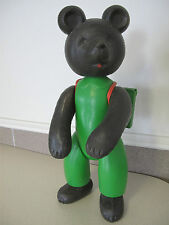 Russian Soviet Large Bear Go to school backpack green Jump suit vintage Мишка