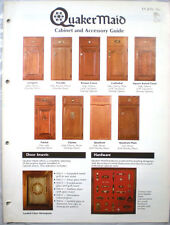 Vtg  QUAKER MAID Cabinet & Accessory Guide Catalog RETRO Wood Cabinets 1980
