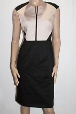 TARGET Brand Black Beige Sleeveless Fitted Day Dress Size 12-M BNWT #SR37