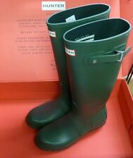 Hunter Women's Original Tall Wellington Boots - Green Sz 9 New!