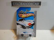2012 Hot Wheels #166 White '65 Corvette w/MC5 Wheels