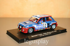Slot car SCX Scalextric Fly 88163 A1202 Renault 5 Turbo Rally Montecarlo N#12