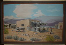 VINTAGE TEXAS ARTIST BROWN JERRETT JARRETT PUEBLO ODESSA HOUSTON OIL PAINTING