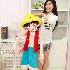 Character Toy Anime One Piece Monkey D Luffy Stuffed Plush Doll Collection 80 cm
