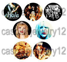 7 piece lot of Hole/Courtney Love pins buttons badges
