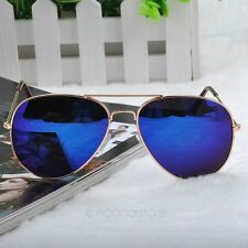 Gafas de sol, Aviator 58mm, UV 400 lentes azules, mas funda.#291