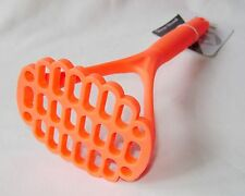 NEW COLOURFUL SILICONE POTATO MASHER RED ORANGE APOLLO 30cm / 12""