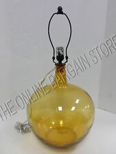 Pottery Barn Clift Hand Blown Glass Jug Amber Table Desk Lamp Base Light NIB