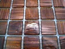 * 75 Tile Sheet Golden Bronze Gold Dust 20mm Mosaic Tiles  *