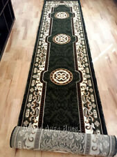 "3x16 Runner Rug Persian Oriental Medallion Floral Hallway  Size 2'8""x15'5"" Green"