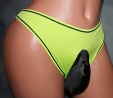 Maidenform Breathable Bright Thong SISSY POUCH PANTIES Sz 28-42 xdress 4 Men