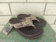 SANUK RARE TAN SLACKER HAWAII SANDALS,  MENS SIZE US 9/ EUR 42  ~NWT