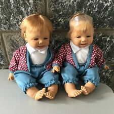 VINTAGE# 90s FAMOSA WINKING BABY MONELLINI GEMELLI TWINS #DOLL BAMBOLA