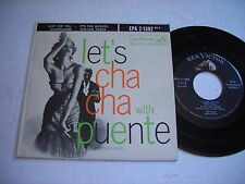 w PICTURE SLEEVE Let's Cha Cha with Tito Puente Vol. II 1957 45rpm EP VG++
